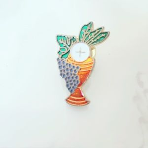 Wine Lapel Pin Vintage